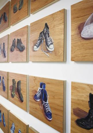 Paintings of shoes